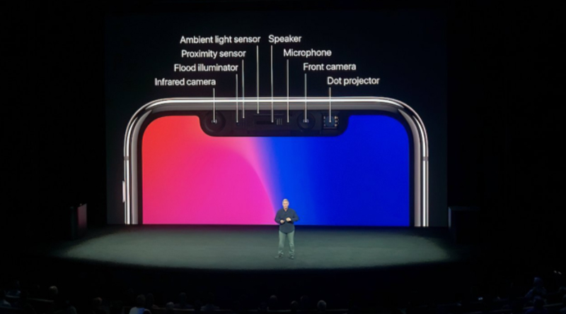 Apple's Phil Schiller relaying Face ID's embedded technology at the iPhone X launch event_iphoneoutfit.com